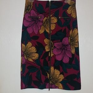 Worthington Floral Zip up Pencil Skirts Size 10P